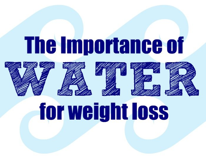 the importance of water for weight loss