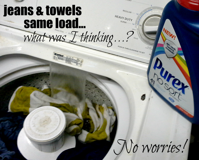 Stop sorting the laundry with Purex® No Sort™ for Colors laundry detergent #LaundrySimplified #shop #CollectiveBias