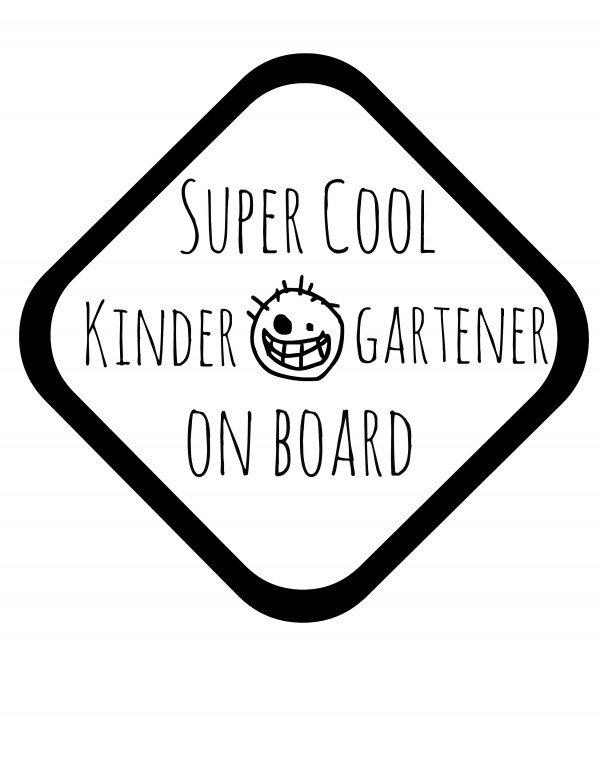 super cool kindergartener on board