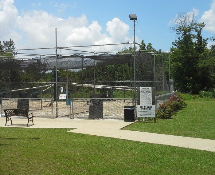 batting cages at Dogwood Junction in Palestine, TX