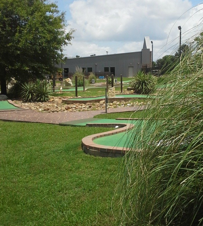 mini golf course at Dogwood Junction in Palestine, TX