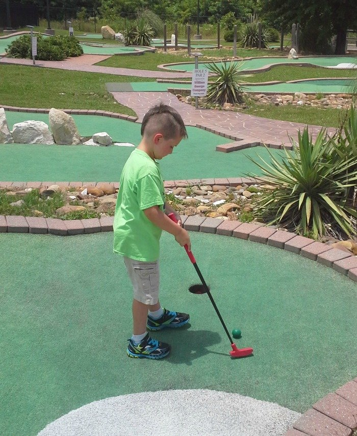 mini golf at Dogwood Junction in Palestine, TX