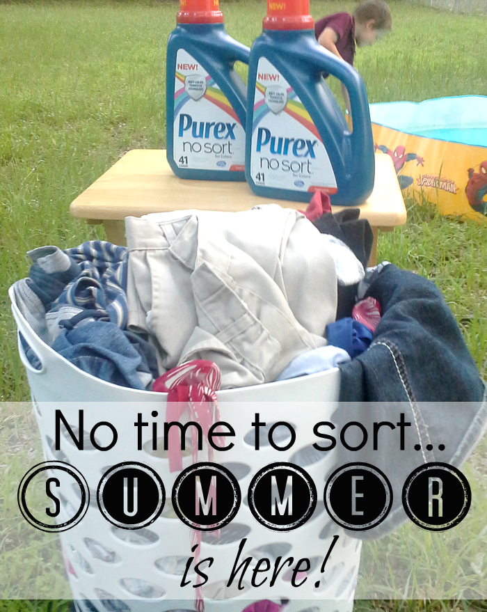 No time to sort laundry...Summer is here! #LaundrySimplified #shop #CollectiveBias
