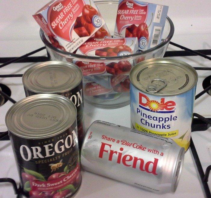 Making Diet Cherry Coke gelatin salad #ShareItForward #shop #CollectiveBias