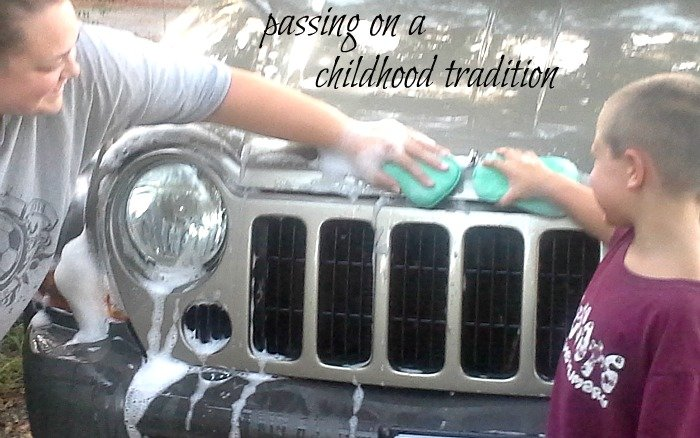 Passing on a childhood tradition - washing the car with Palmolive #Palmolive25Ways #shop #CollectiveBias