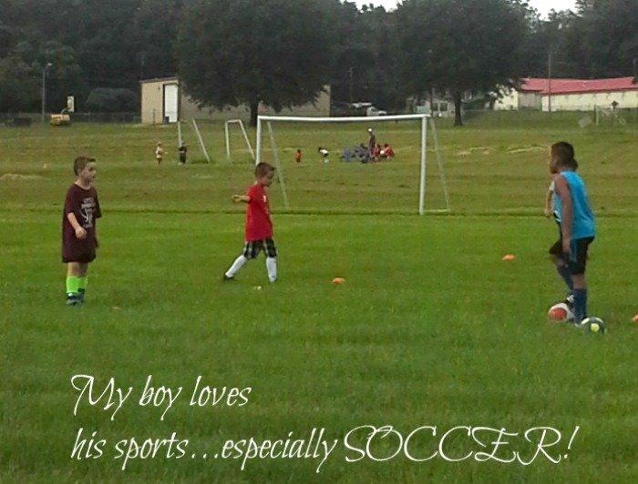 My boy loves his sports...especially soccer!