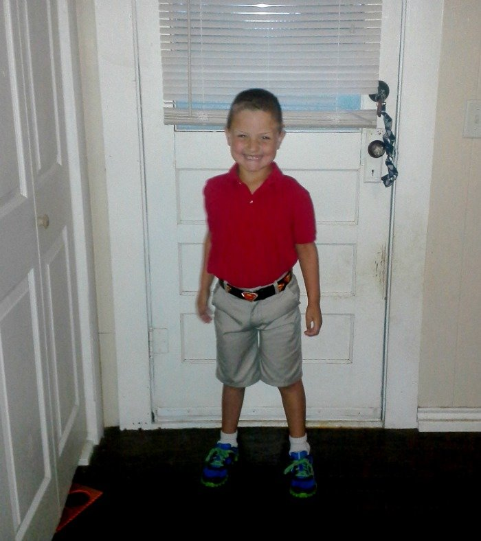 Benjamin's first day of First Grade!