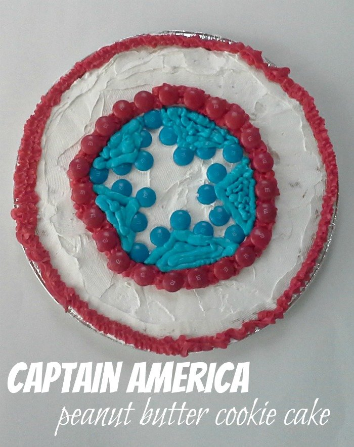 Captain America peanut butter cookie cake #InfinityHeroes #shop #CollectiveBias