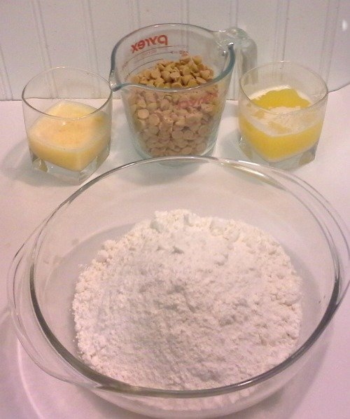 ingredients for cookie cake