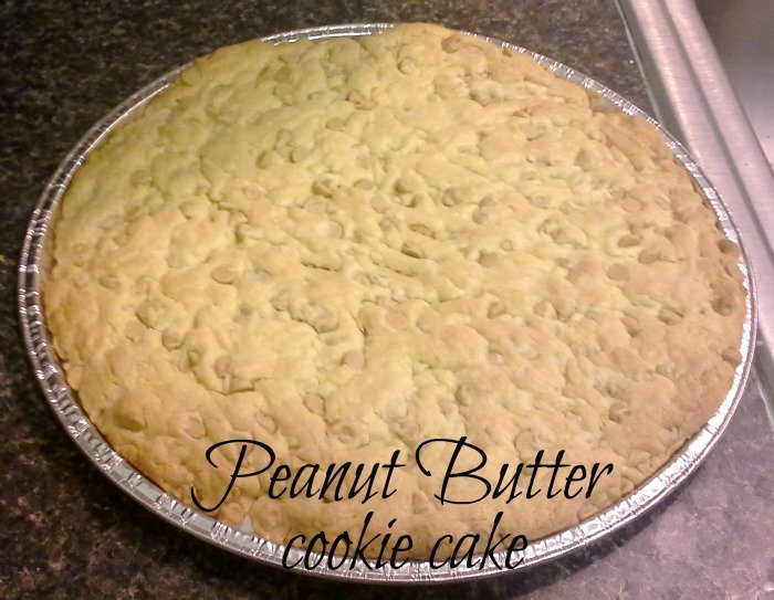 {Lazy Girl} Peanut Butter Chip Cookie Cake