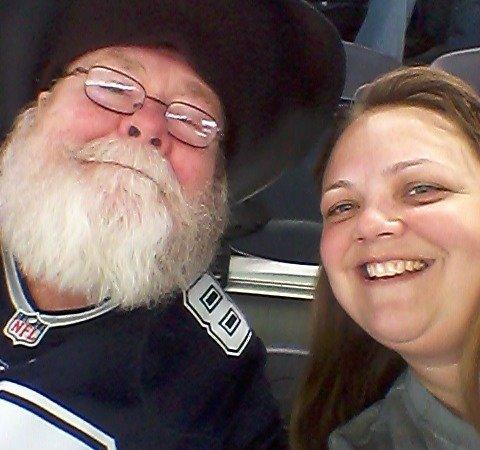 Cowboys football selfie