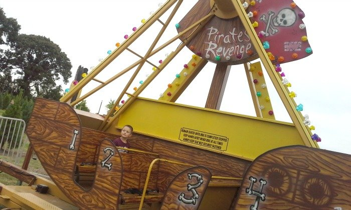 Let the kids ride the carnival rides at Yesterland Farm in Canton, TX