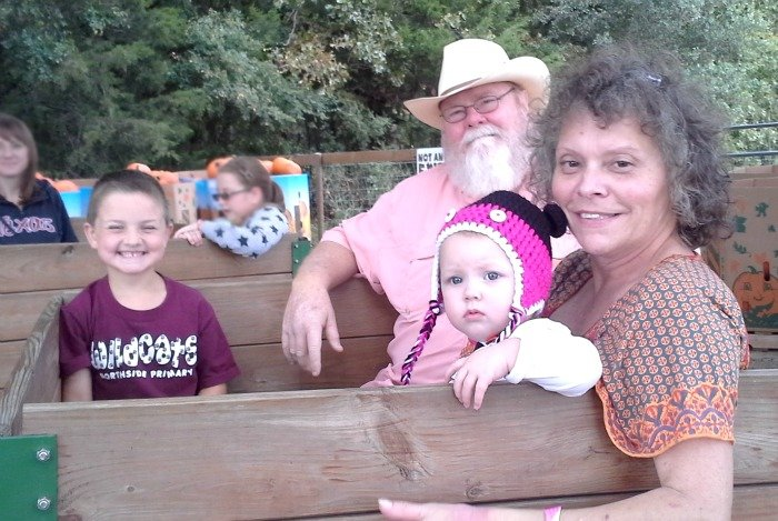 Ride the hay ride at Yesterland Farm in Canton, TX