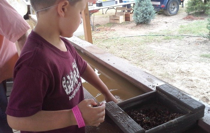 Mine for gemstones at Yesterland Farm in Canton, TX