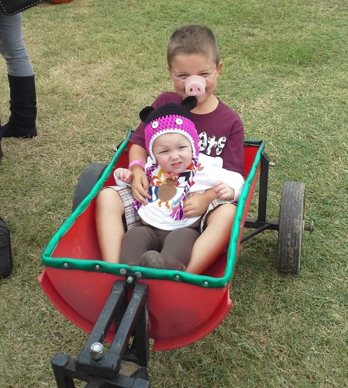 If the kids get tired, pick up a wagon at Yesterland Farm in Canton, TX
