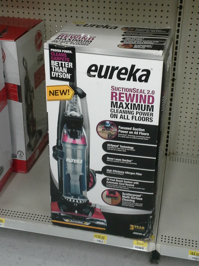 Eureka SuctionSeal 2.0 Rewind at Walmart #EurekaPower #CollectiveBias #ad