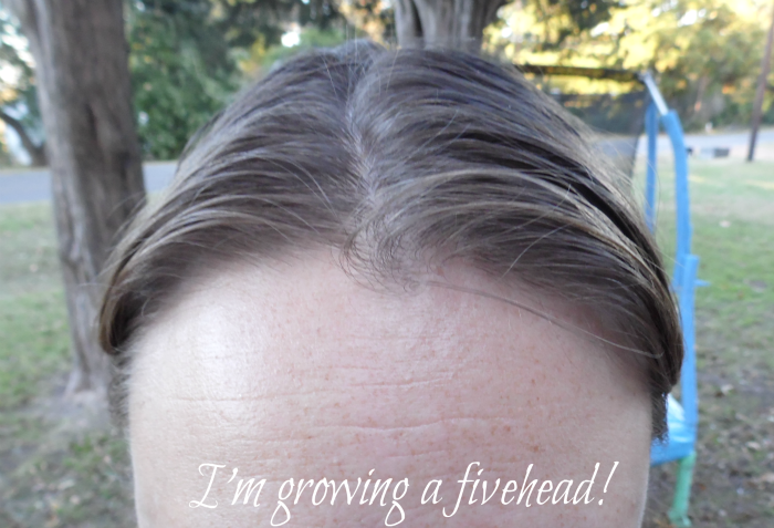 My forehead is becoming a fivehead! #MoreIsBeautiful #CollectiveBias #ad