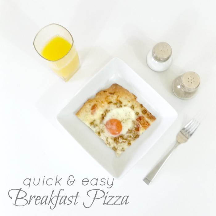 Quick & Easy Breakfast Pizza Recipe #GoldrichYolk #ad