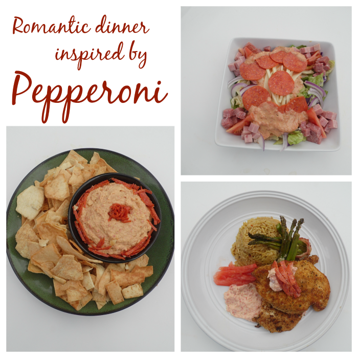 Romantic dinner inspired by pepperoni #PepItUp #CollectiveBias #ad