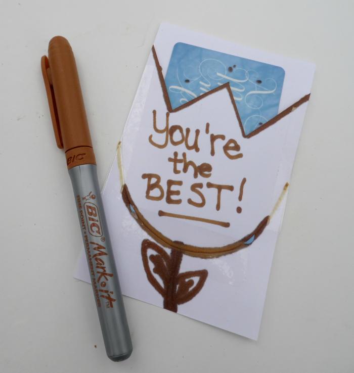 DIY gift card holder #MerryMarking #HoneyBrown