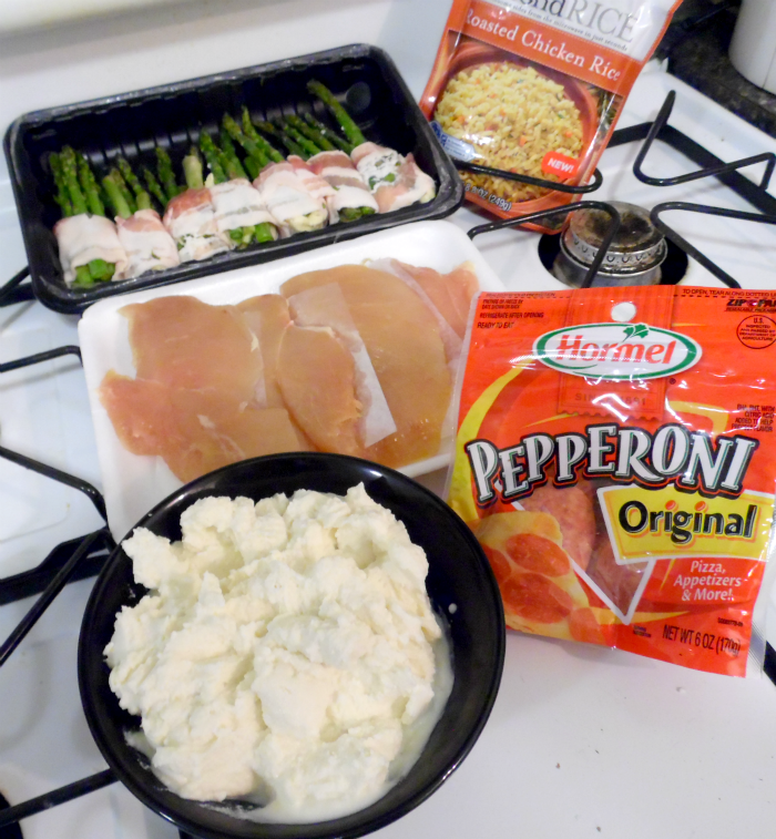ingredients for pan-seared chicken with Pepperoni Ricotta puree #PepItUp #CollectiveBias #ad