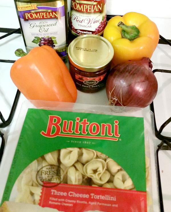 ingredients for tortellini dish