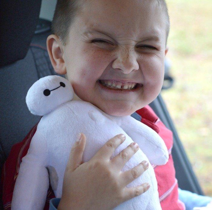 Benjamin with Baymax ready for Disney World #BigHero6Release #ad #cbias