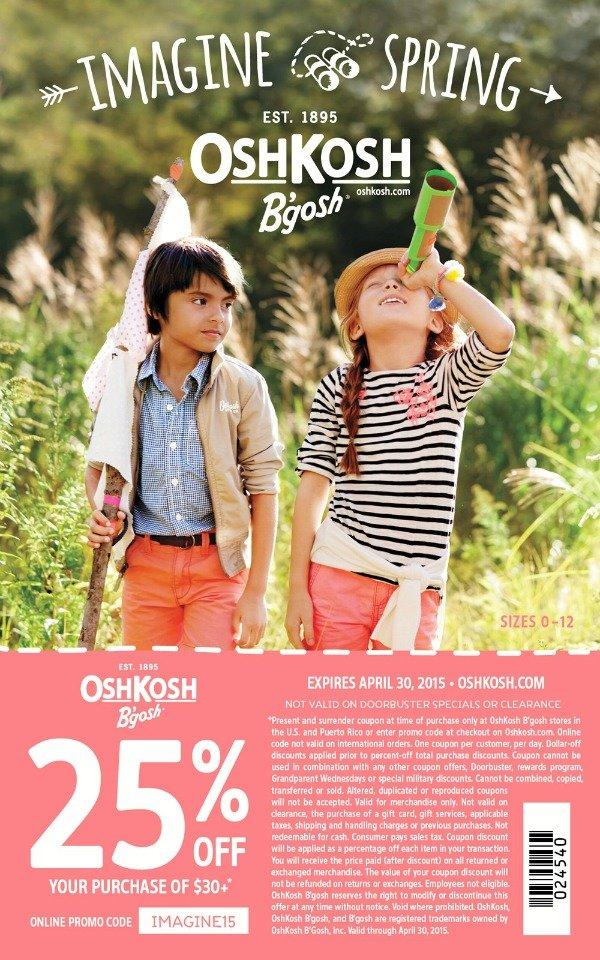 OshKosh B'Gosh coupon #ImagineSpring #ad #IC