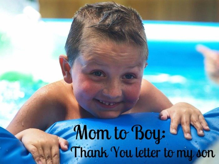 Thank You letter to my son #boymom