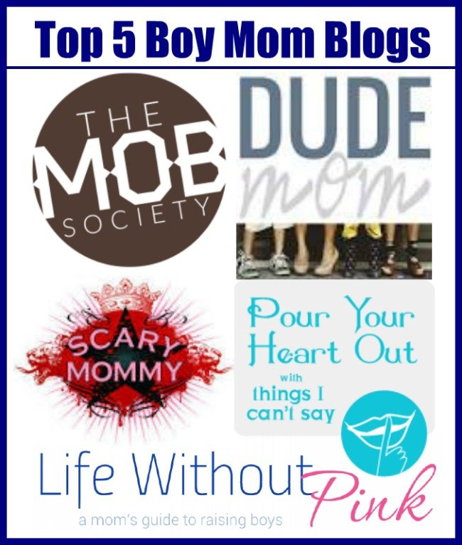Top 5 Boy Mom Blogs #boymom