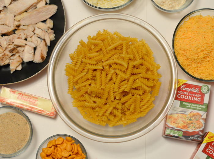 ingredients for Creamy Herb and Garlic Chicken Mac #ad #CollectiveBias
