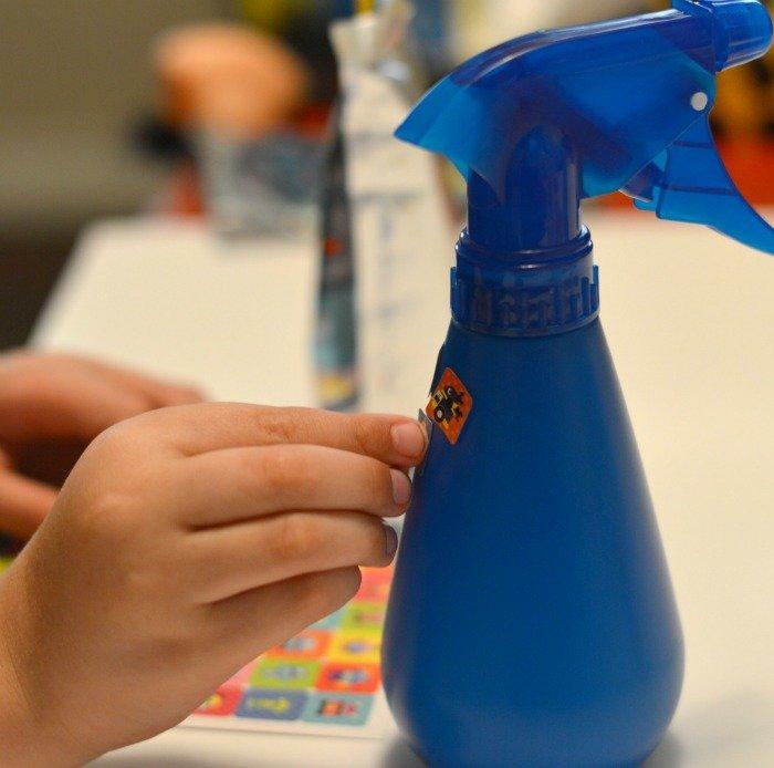 making a Monster Spray bottle