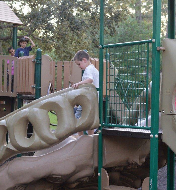 playground at Wilderness Lodge at Disney