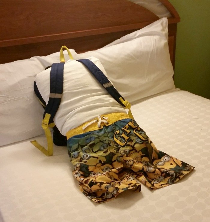 swimsuit boy made by housekeeping at Disney World