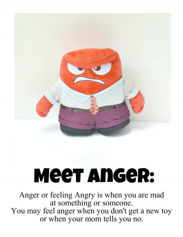 Meet Anger from Inside Out and download an All About My Emotions booklet #PlayNGrow #CollectiveBias [ad]
