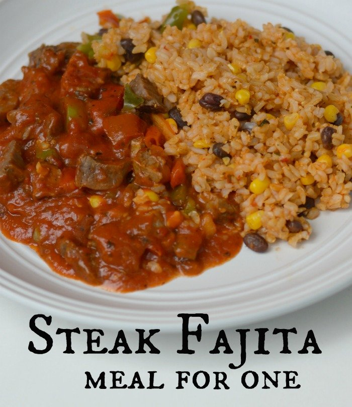 Steak Fajita meal for one #PowerfulProtein #CollectiveBias [ad]