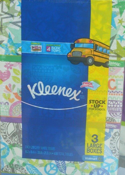 Kleenex for Box Tops for Education #ad #BTSLikeABoss