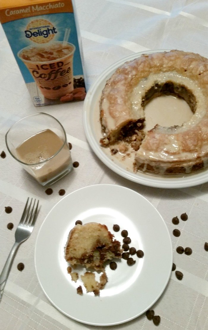 Coffee cake with iced coffee #FoundMyDelight [ad] #CollectiveBias