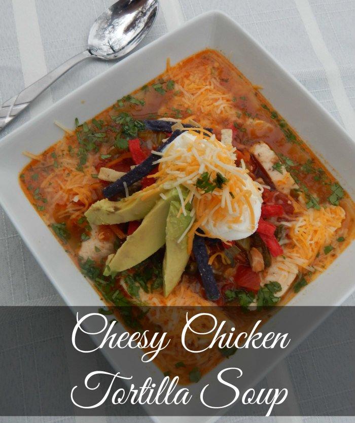 Cheesy Chicken Tortilla Soup #NaturallyCheesy #CollectiveBias [ad]