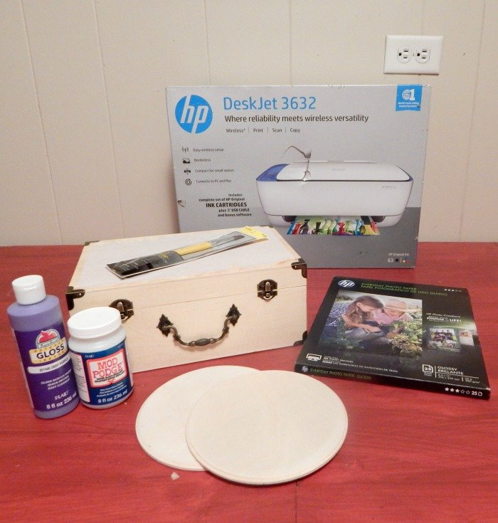 Supplies needed for Photo Box tutorial
