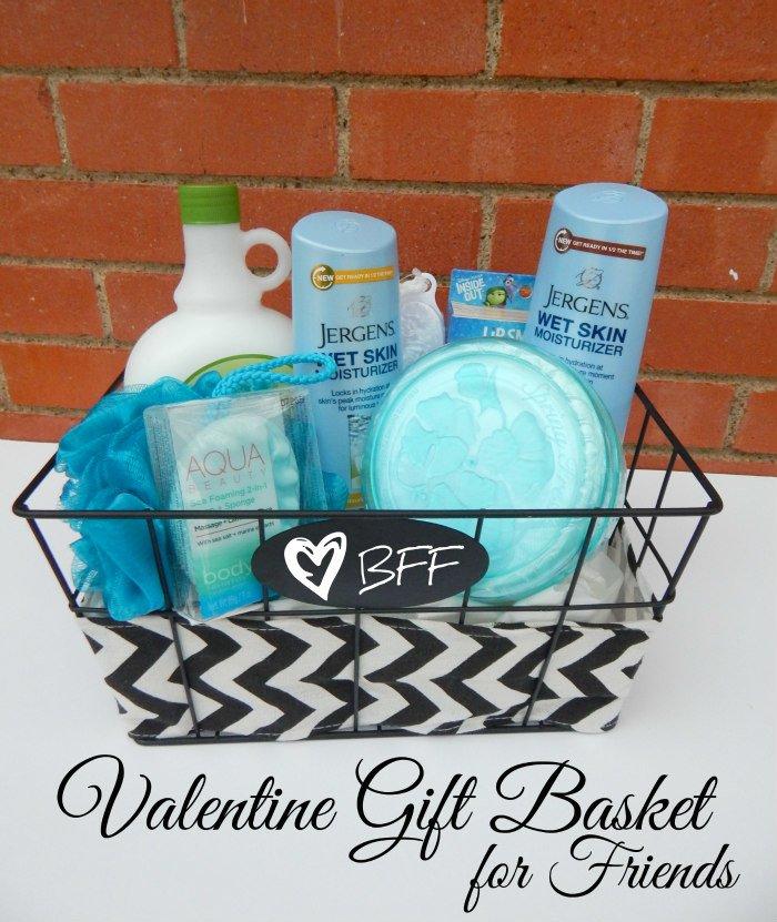 Valentine Gift Basket for Friends #WetSkinMoisturizer [ad] #CollectiveBias
